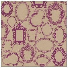 Hambly Screen Prints Kraft Paper Frame Wallpaper Magenta
