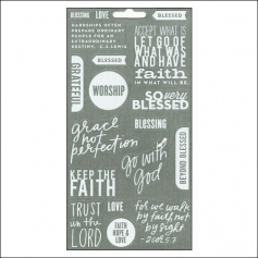 Me and My Big Ideas Sticks Clear Stickers White Faith