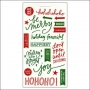 Me and My Big Ideas Sticks Clear Stickers Red and Green Holly Jolly Christmas