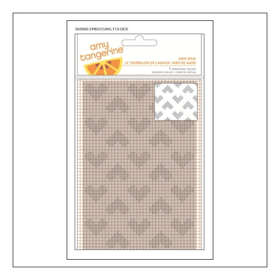 American Crafts Embossing Folder Love Spun Stitched Collection by Amy Tangerine
