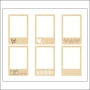 American Crafts Bits Die Cut Wood Frames Stitched Collection by Amy Tangerine