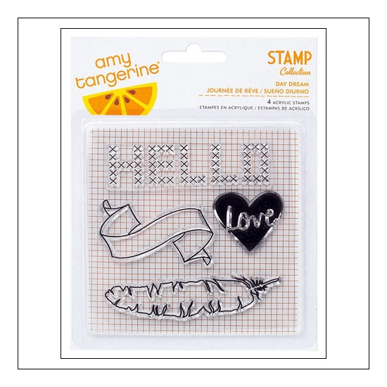 American Crafts Clear Stamps Day Dream Stitched Collection by Amy Tangerine