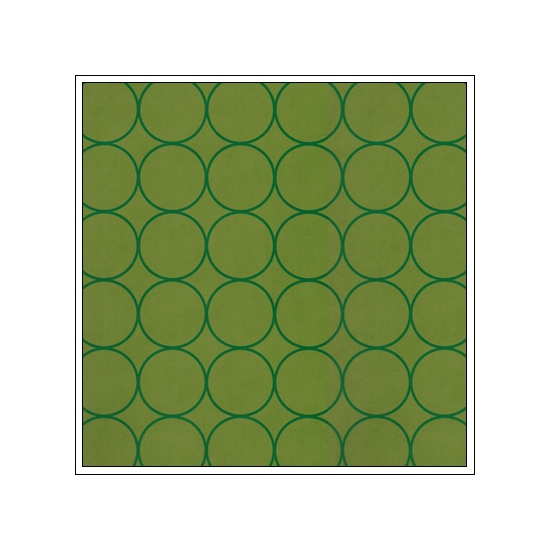 Hambly Screen Prints Metallic Green Paper Chic Circles Green