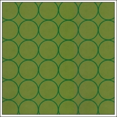 Hambly Screen Prints Metallic Green Paper Chic Circles Green