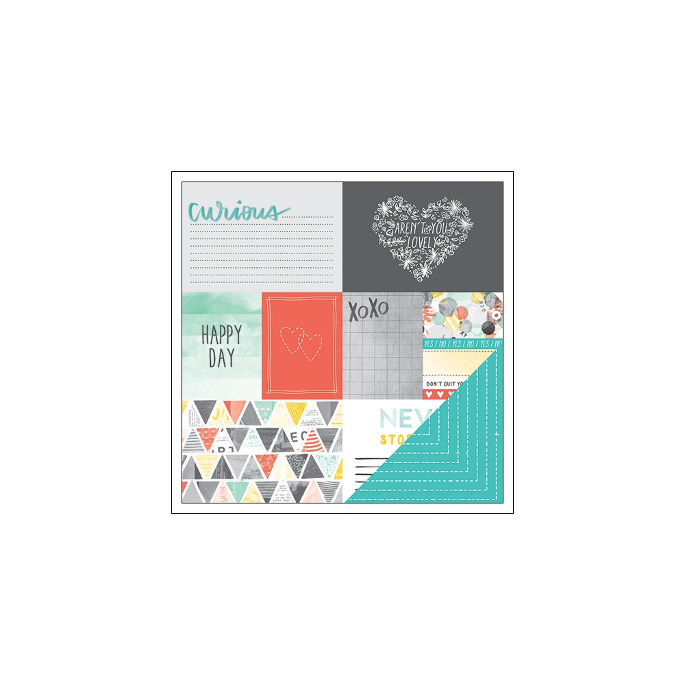 American Crafts Paper Sheet Scissors Stitched Collection by Amy Tangerine