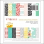 American Crafts Paper Pad 6x6 Stitched Collection by Amy Tangerine