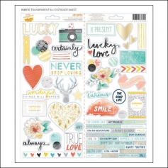 American Crafts Remarks Accent and Phrase Stickers Stitched Collection by Amy Tangerine