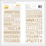 American Crafts Thicker Stickers Kraft Chipboard Everyday Stitched Collection by Amy Tangerine