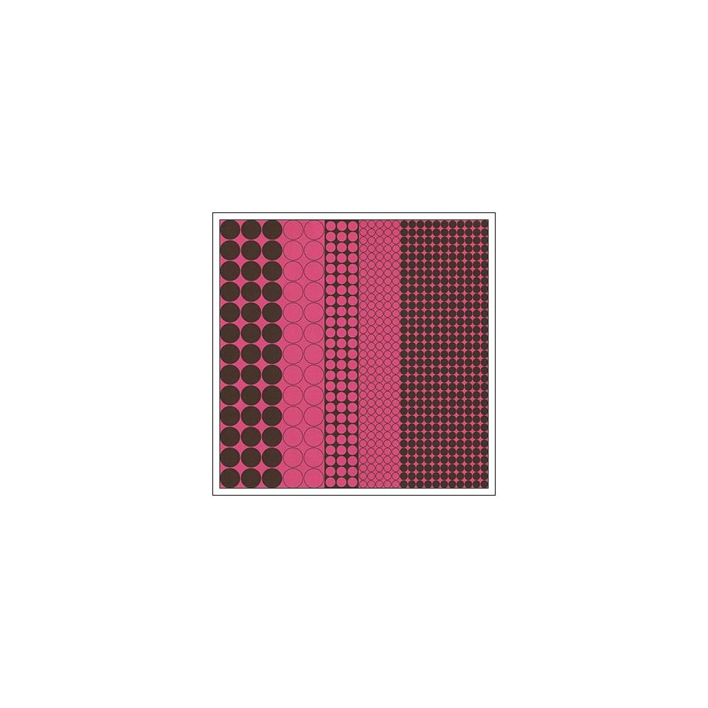 Hambly Screen Prints Metallic Pink Paper Mod Circles Brown