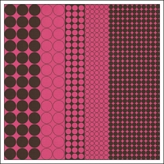 Hambly Screen Prints Metallic Pink Paper Mod Circles Brown