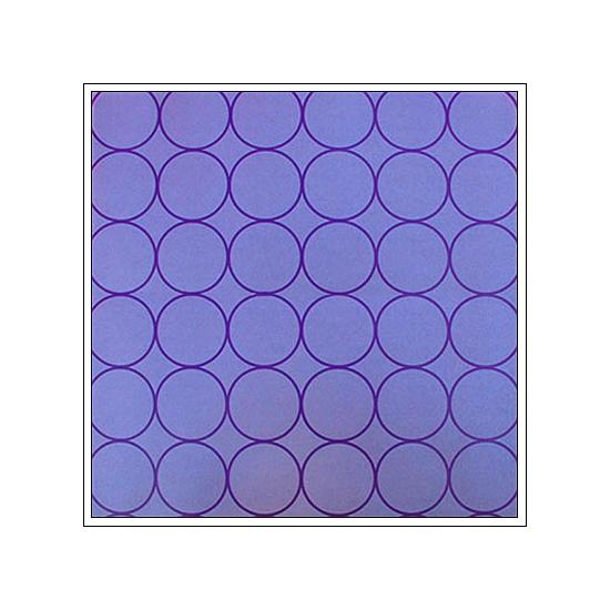 Hambly Screen Prints Metallic Purple Paper Chic Circles Purple