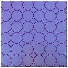 Hambly Screen Prints Metallic Purple Paper Chic Circles Purple