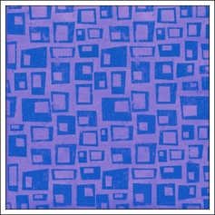Hambly Screen Prints Metallic Purple Paper Retro Rectangles Purple