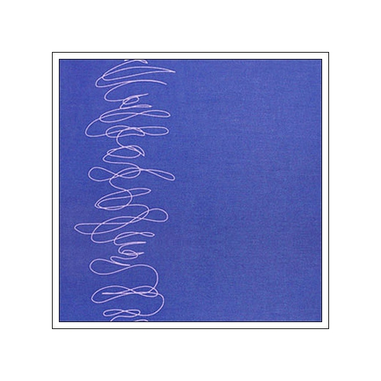 Hambly Screen Prints Metallic Purple Paper Squiggle Silver