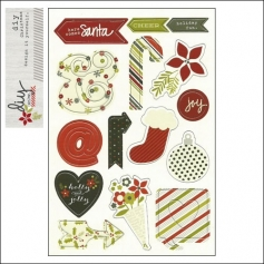 Simple Stories Chipboard Sticker Sheet DIY Christmas Collection