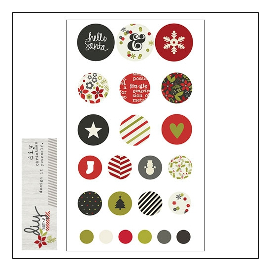 Simple Stories Decorative Brads DIY Christmas Collection