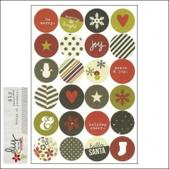 Simple Stories Sticker Sheet Christmas Icons DIY Christmas Collection