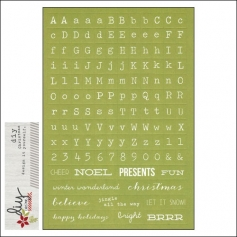 Simple Stories Sticker Sheet Christmas Letters and Words DIY Christmas Collection