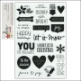 Simple Stories Clear Black Photo Sticker Sheet DIY Christmas Collection