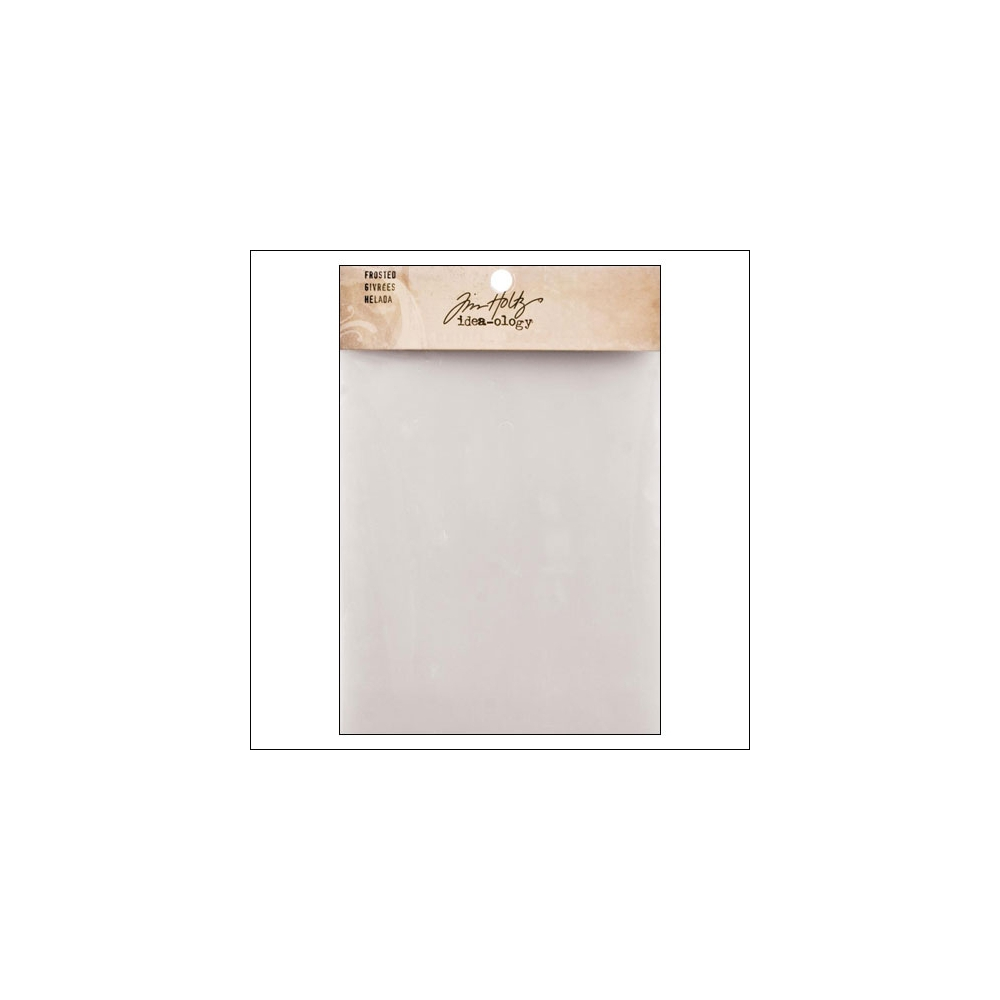 Idea-ology Frosted Plastic Semi Transparent Sheet by Tim Holtz
