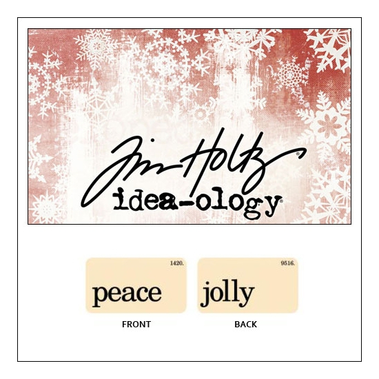 Idea-ology Holiday Mini Flash Card Peace and Jolly by Tim Holtz