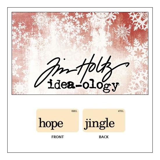 Idea-ology Holiday Mini Flash Card Hope and Jingle by Tim Holtz