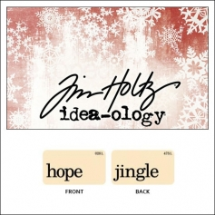 Idea-ology Holiday Mini Flash Card Hope and Jingle by Tim Holtz