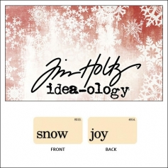 Idea-ology Holiday Mini Flash Card Snow and Joy by Tim Holtz