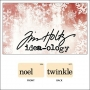 Idea-ology Holiday Mini Flash Card Noel and Twinkle by Tim Holtz