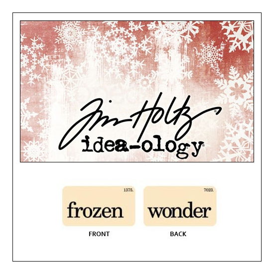 Idea-ology Holiday Mini Flash Card Frozen and Wonder by Tim Holtz