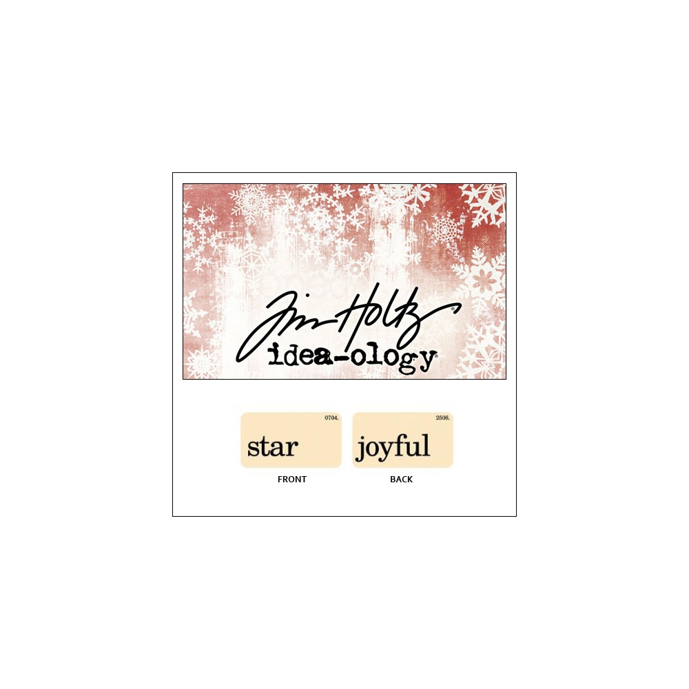 Idea-ology Holiday Mini Flash Card Star and Joyful by Tim Holtz