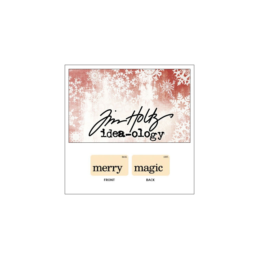 Idea-ology Holiday Mini Flash Card Merry and Magic by Tim Holtz