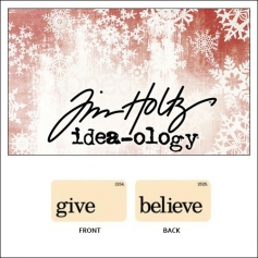 Idea-ology Holiday Mini Flash Card Give and Believe by Tim Holtz
