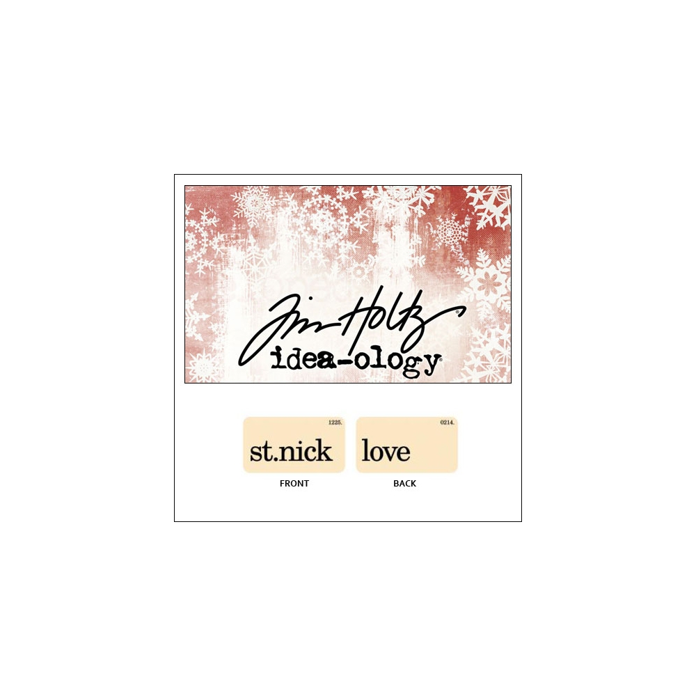 Idea-ology Holiday Mini Flash Card St.Nick and Love by Tim Holtz