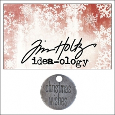 Idea-ology Tidings Token Impressed Sentiment Christmas Wishes by Tim Holtz