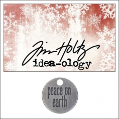 Idea-ology Tidings Token Impressed Sentiment Piece On Earth by Tim Holtz