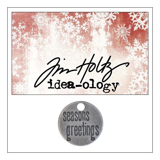 Idea-ology Tidings Token Impressed Sentiment Seasons Greetings by Tim Holtz