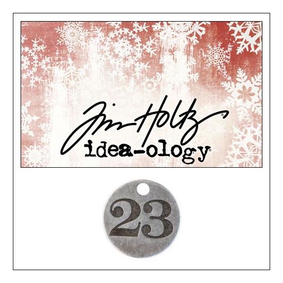 Idea-ology Countdown Coin Impressed Number Twenty Three by Tim Holtz