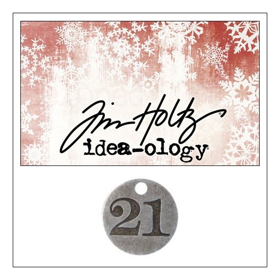 Idea-ology Countdown Coin Impressed Number Twenty One by Tim Holtz