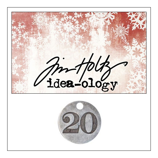 Idea-ology Countdown Coin Impressed Number Twenty by Tim Holtz