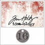 Idea-ology Countdown Coin Impressed Number Sixteen by Tim Holtz