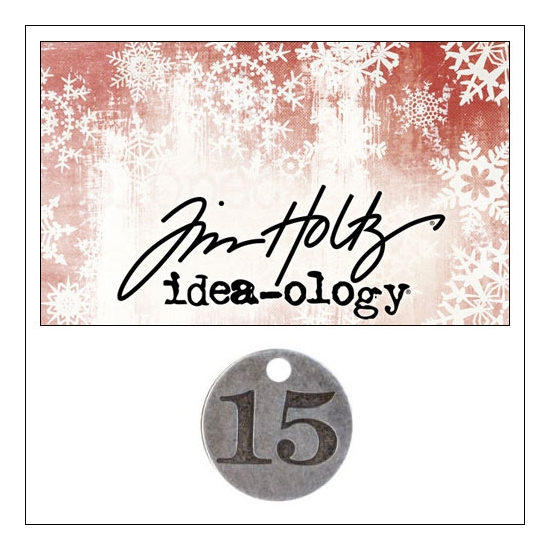 Idea-ology Countdown Coin Impressed Number Fifteen by Tim Holtz