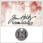 Idea-ology Countdown Coin Impressed Number Thirteen by Tim Holtz