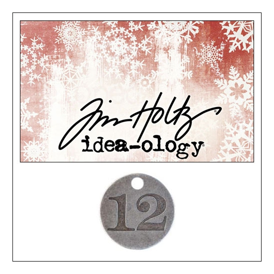 Idea-ology Countdown Coin Impressed Number Twelve by Tim Holtz