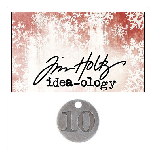 Idea-ology Countdown Coin Impressed Number Ten by Tim Holtz