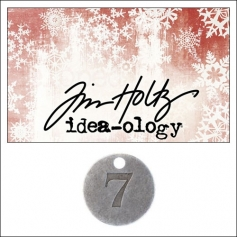 Idea-ology Countdown Coin Impressed Number Seven by Tim Holtz