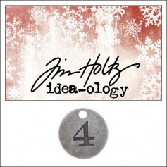 Idea-ology Countdown Coin Impressed Number Four by Tim Holtz