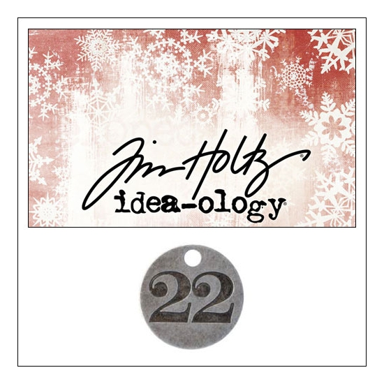 Idea-ology Countdown Coin Impressed Number Twenty Two by Tim Holtz