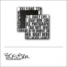 Scrapbook and More Square Flair Badge Button Text by Beshka Kueser