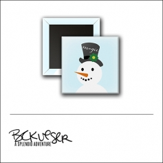 Scrapbook and More Square Flair Badge Button Magic Snowman by Beshka Kueser